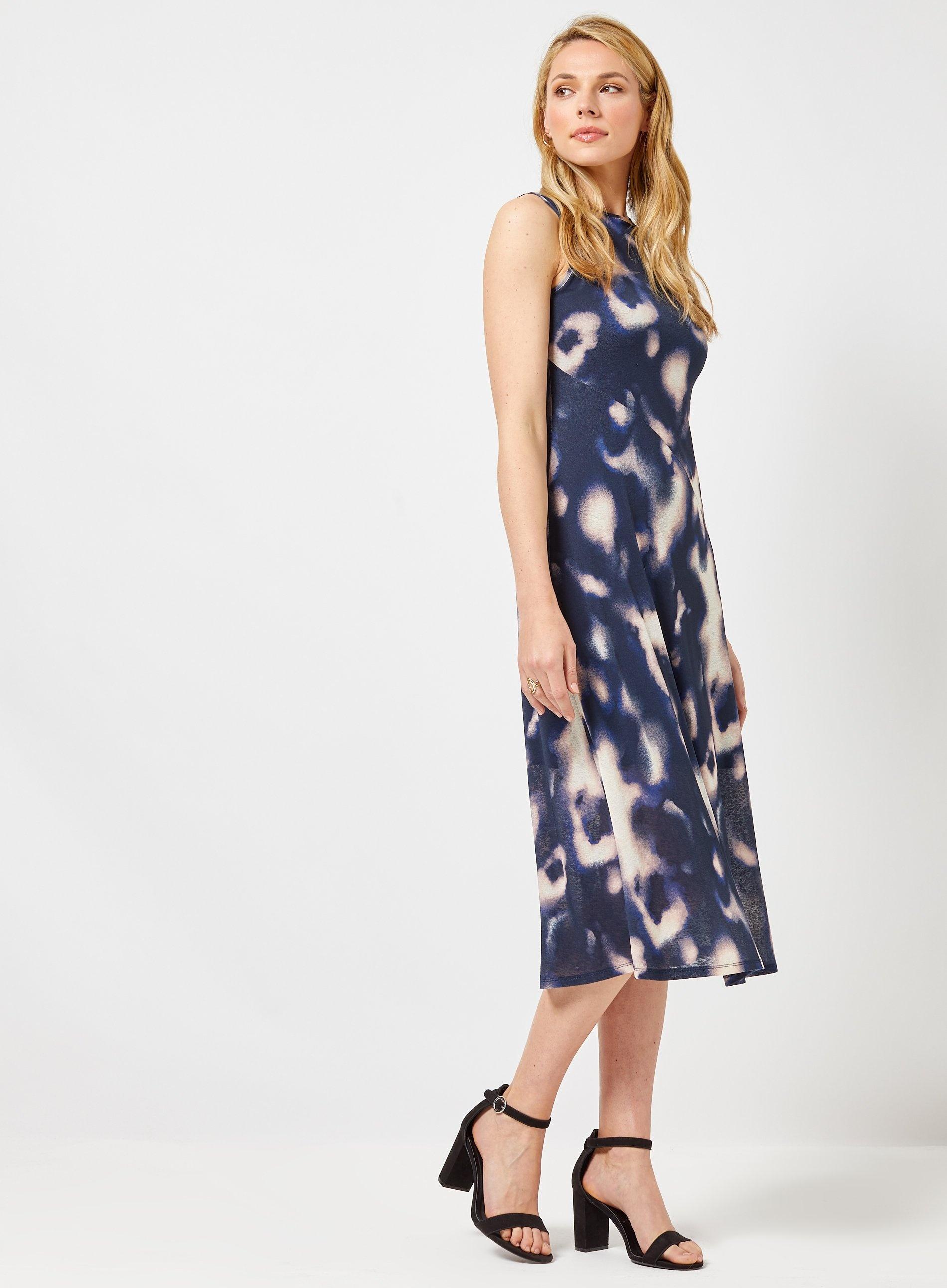 951ae1bba30c Dorothy Perkins - Blue Tie Dye Mesh Midi Dress - Lyst. View fullscreen