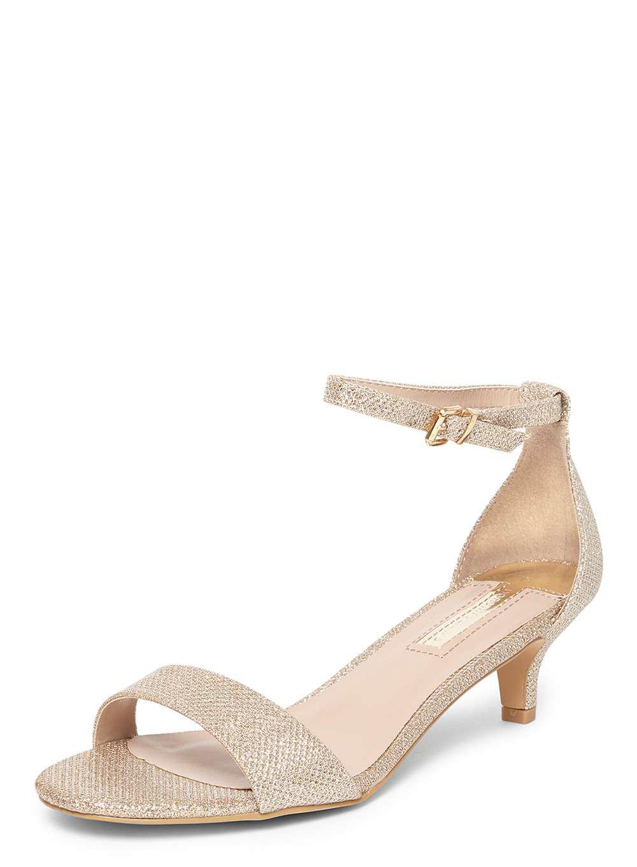 f9620576536704 Dorothy Perkins - Metallic Gold Wide Fit Niscos  sundae  Low Heel Sandals -  Lyst