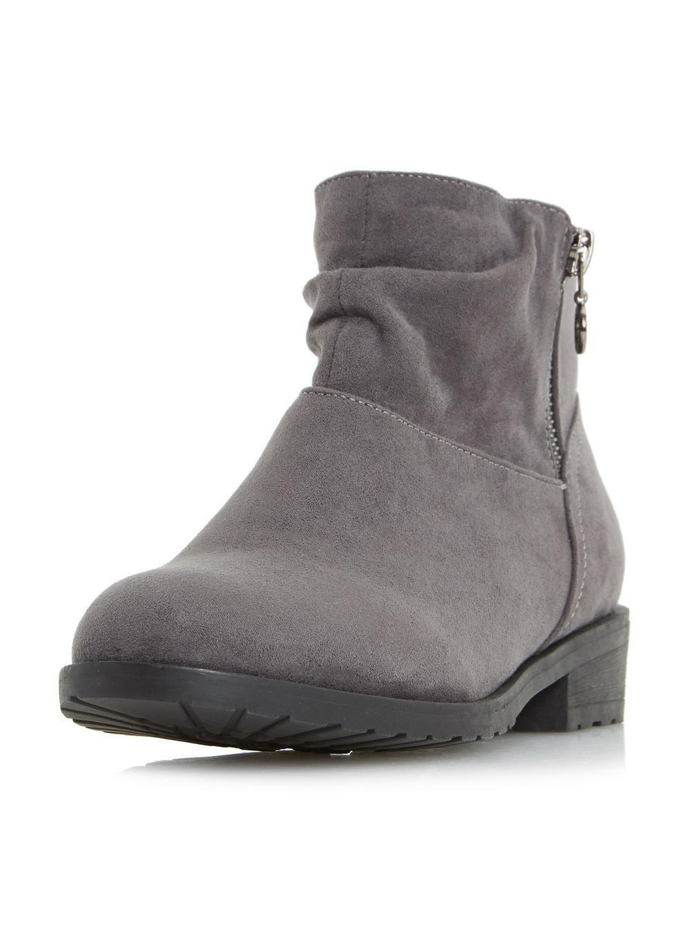 87a87f937 Dorothy Perkins Head Over Heels By Dune Grey Perci Ankle Boots in ...