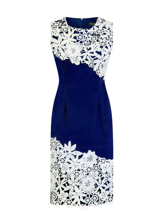 Dorothy Perkins Paper Dolls Blue Lace Midi Dress X7fKP3tWU