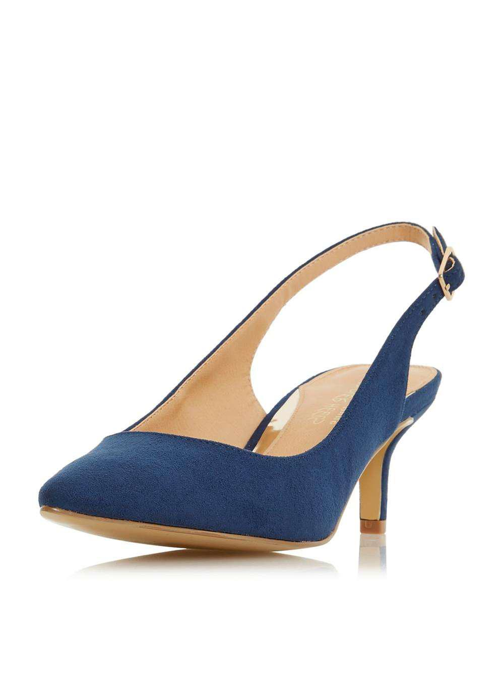 58dfb426bb3 Lyst - Dorothy Perkins Head Over Heels By Dune Navy  corrin  Mid ...