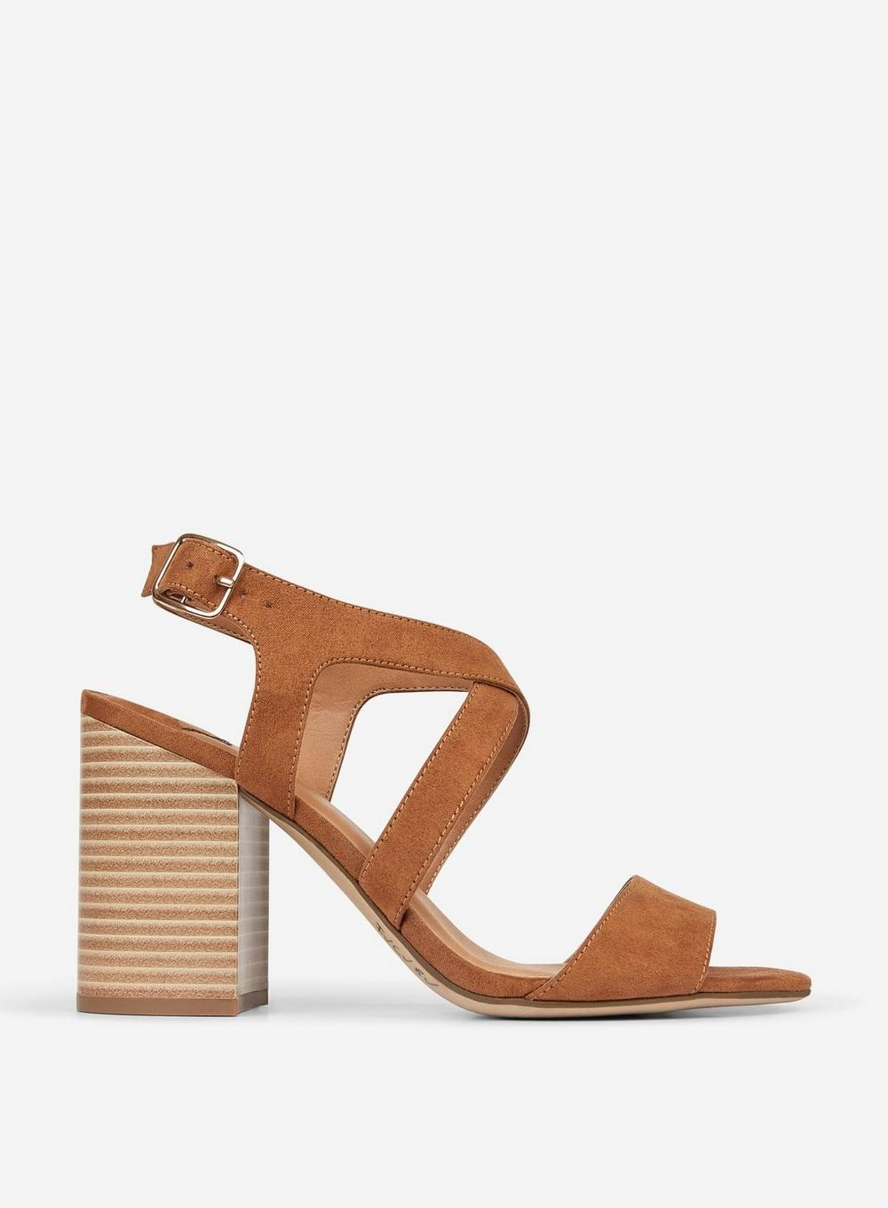 6c9f08948c814a Lyst - Dorothy Perkins Wide Fit Tan  spye  Crossover Sandals in ...