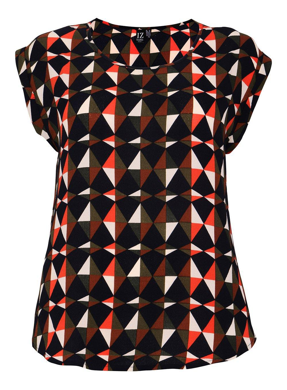 Pick A Best For Sale Dorothy Perkins Womens *Izabel London Curve Geometric Print Top- Cheap Visa Payment Discount Price Cheap How Much Cheap Price C4n4ABDS5z