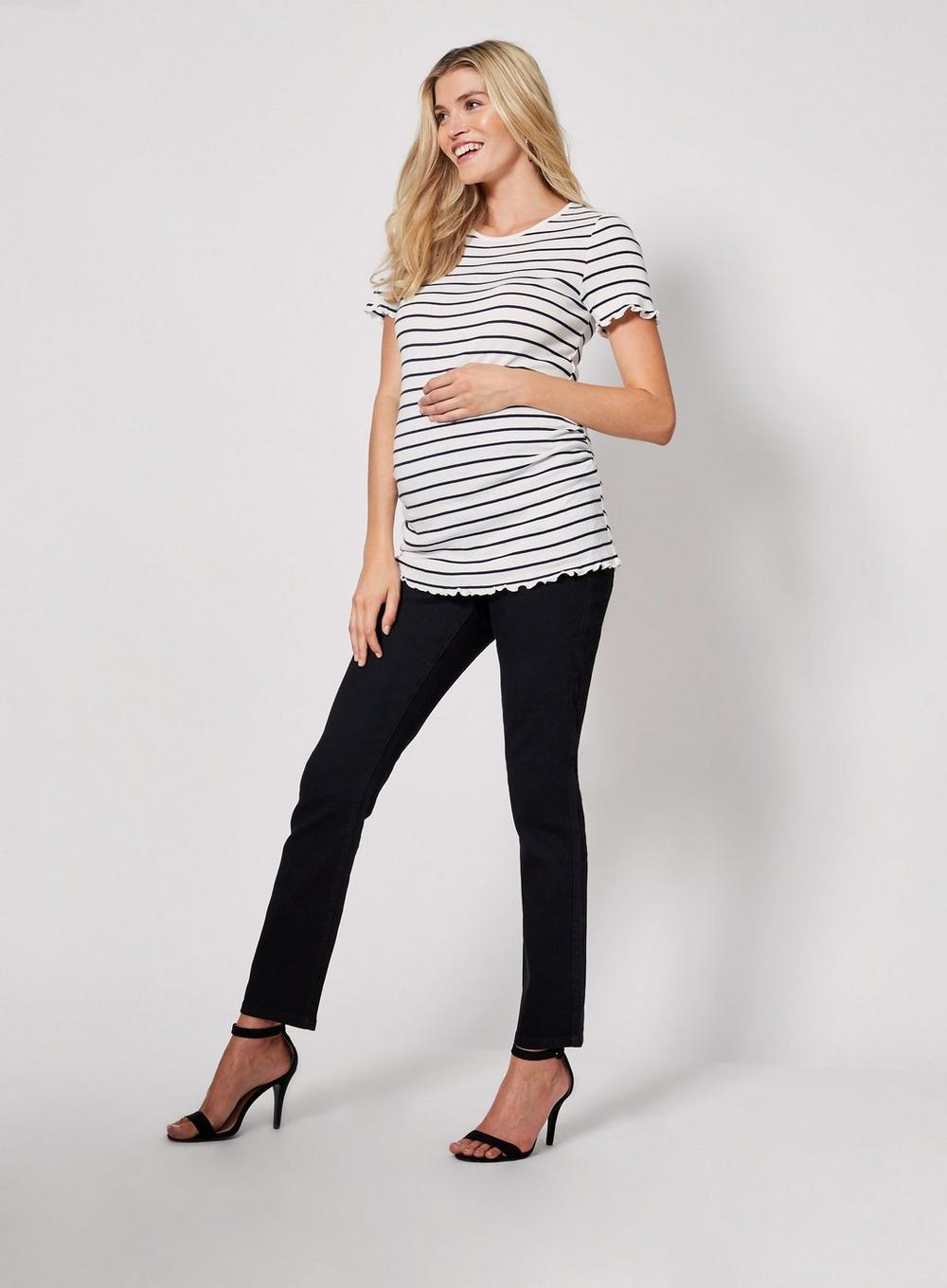 a48e53351f980 Dorothy Perkins - Maternity Black Over Bump Straight Leg Jeans - Lyst. View  fullscreen