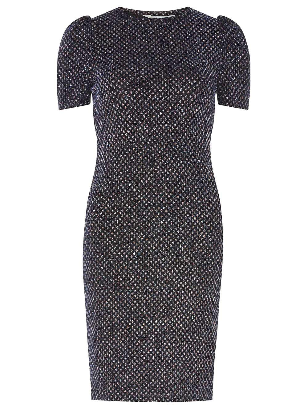 a859926245 Dorothy Perkins Petite Navy Diamond Glitter Bodycon Dress in Blue - Lyst