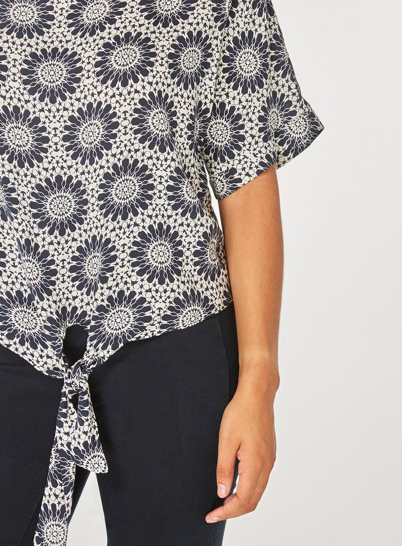 Real Sale Online Discount Fashionable Dorothy Perkins Womens Monochrome Tile Tie T-Shirt- m2nxviIzc