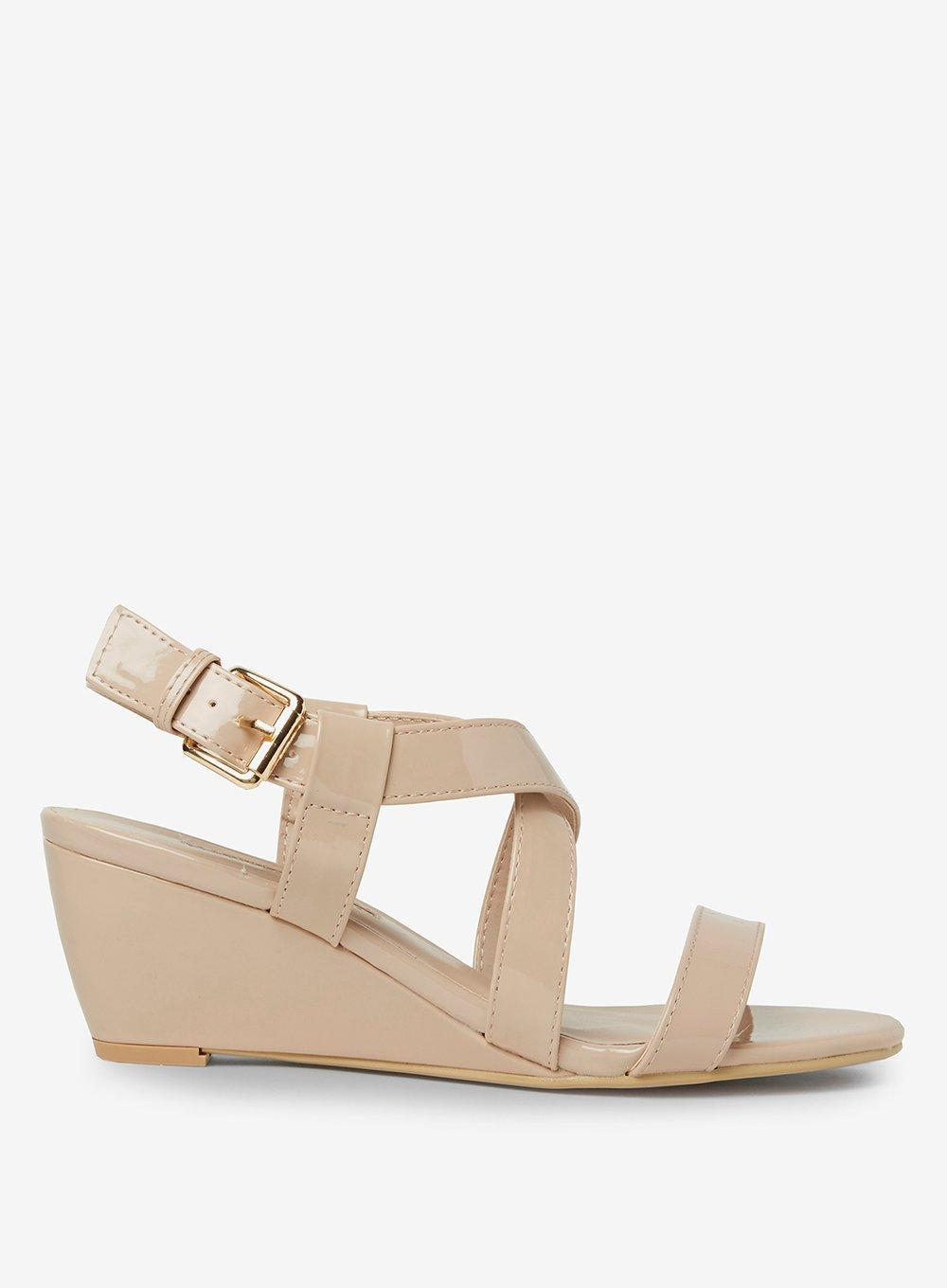 bf1e2cb77 Dorothy Perkins Nude 'rosina' Wedge Sandals in Natural - Lyst