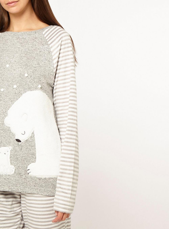 e9632a1a89 Dorothy Perkins - Gray Tall Grey Polar Bear Pyjama Set - Lyst. View  fullscreen
