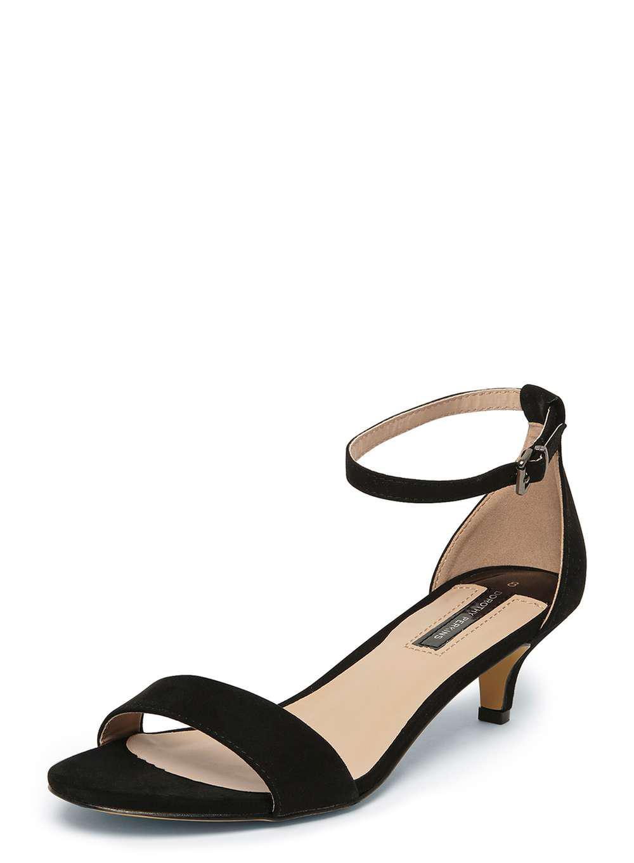 2496843ec6cf0a Dorothy Perkins Black  sundae  Low Heel Sandals in Black - Lyst
