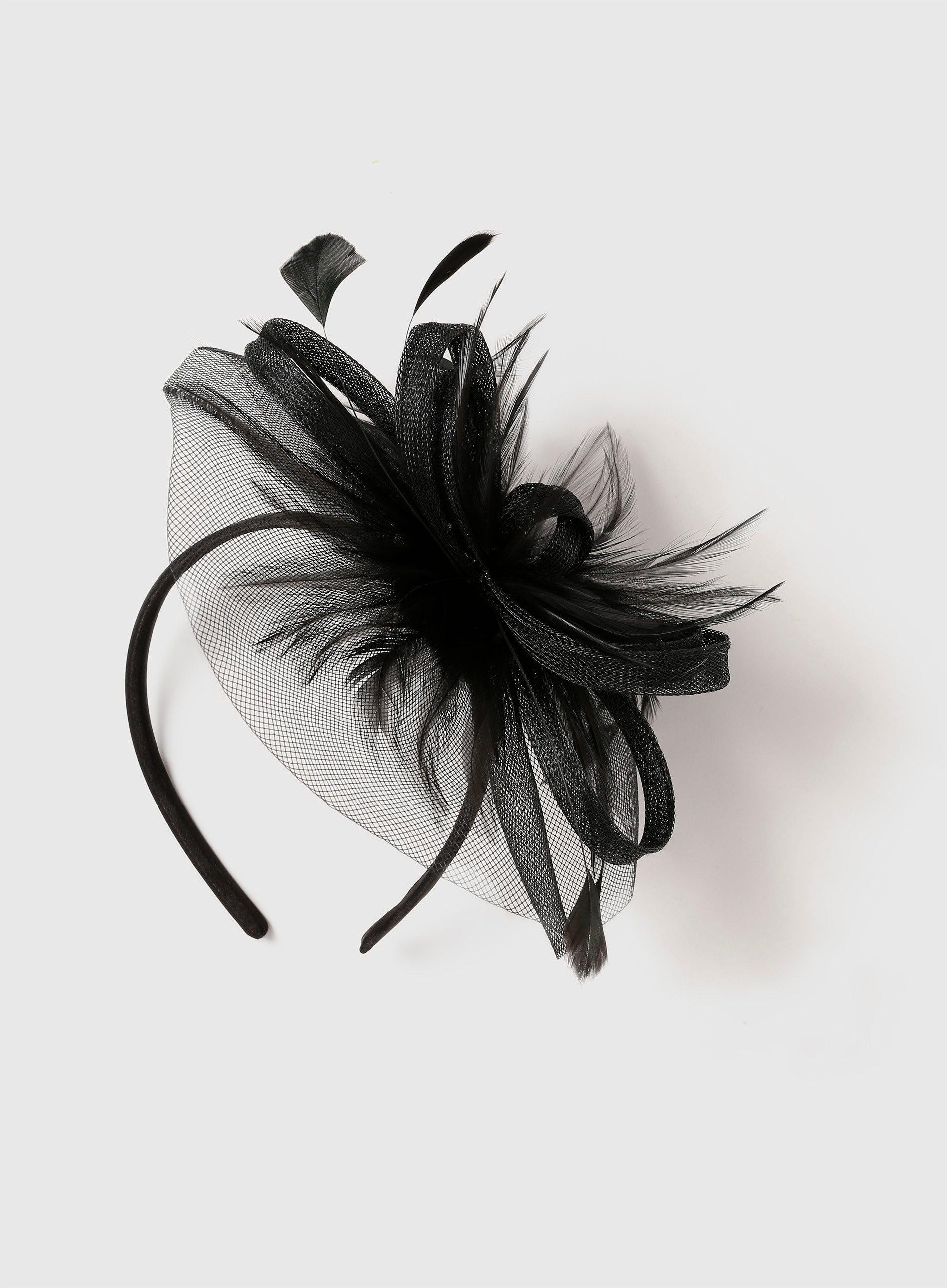 b483306ea2c4f Dorothy Perkins Black Feather Mesh Fascinator in Black - Lyst