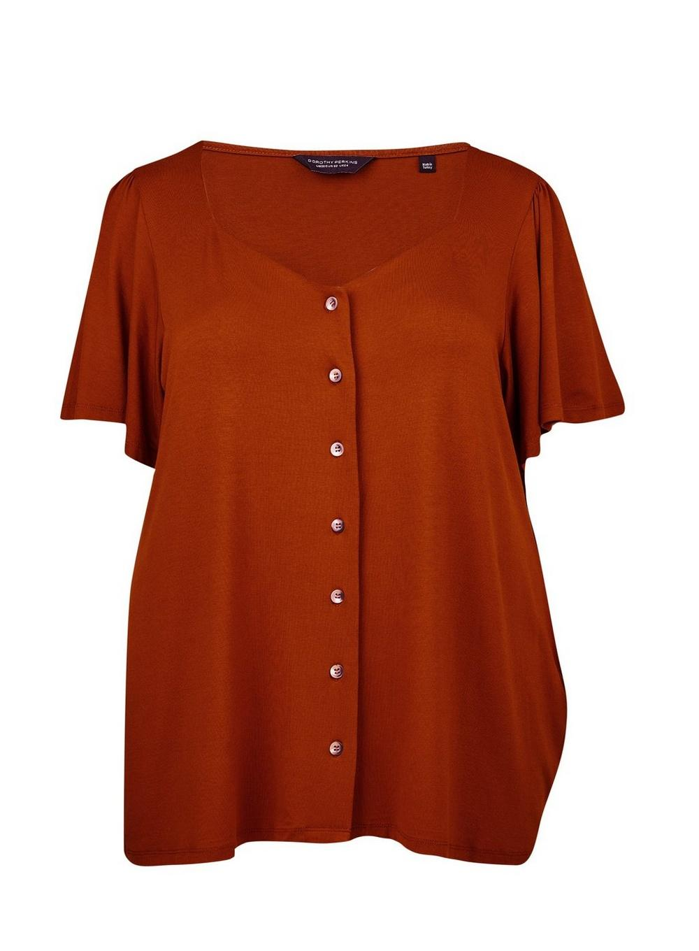 4cba730c46ac7 Dorothy Perkins. Women's Dp Curve Ginger Button Down Top
