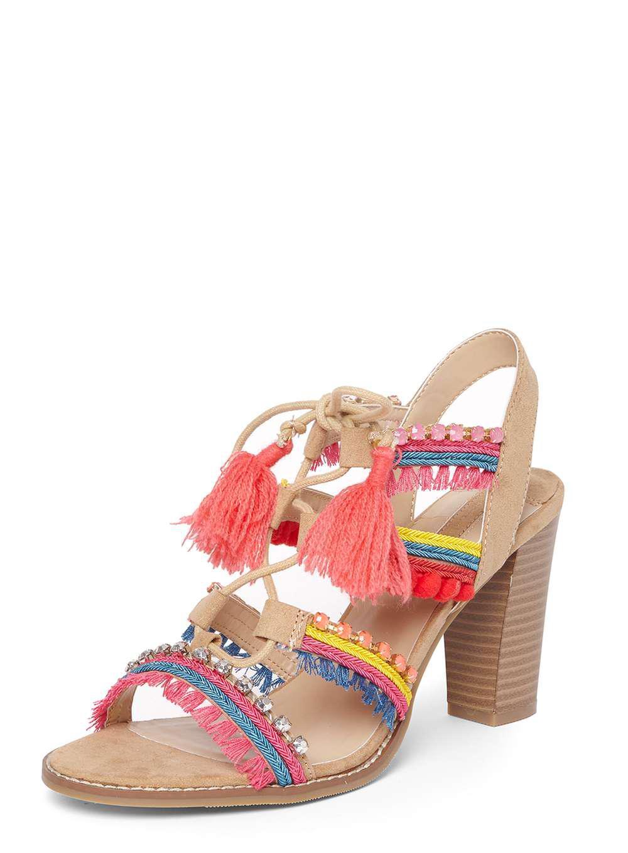 4ab15c668c95 Lyst - Dorothy Perkins Tan  selfie  Pom Pom Sandals in Brown
