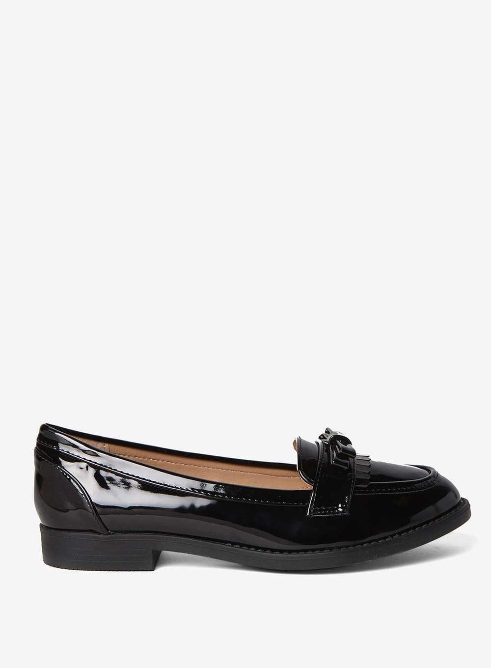 WIDE FIT LENNY - Mocasines - black ALIRAWEN - Sandalias de dedo - black AgQxrIy