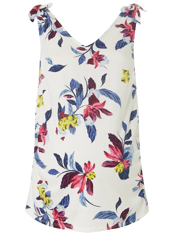 dff8633b9db87 Dorothy Perkins Maternity Ivory Floral Print Tie Shoulder Vest in ...