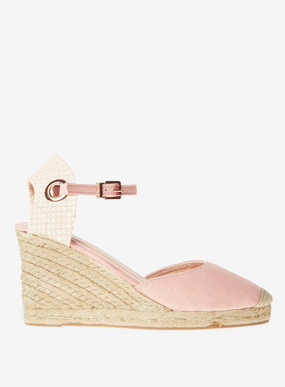 e26a82f6f36 Dorothy Perkins Rose  raven  Espadrille Wedge Sandals in Pink - Lyst