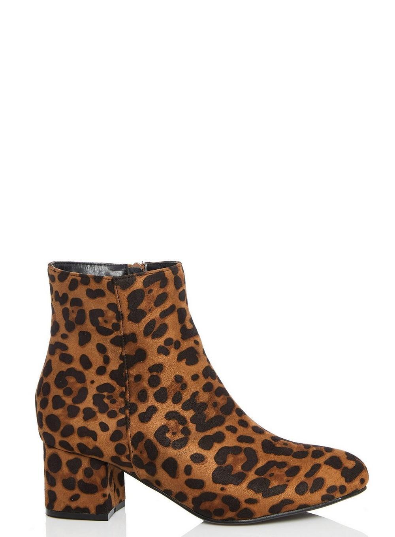 1a7169397f6a Dorothy Perkins Quiz Black Leopard Print Block Heel Boots in Black ...