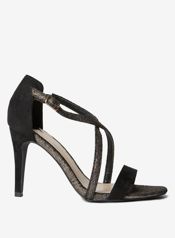 e5bfa297df Dorothy Perkins. Women's Wide Fit Exclusive Black 'bestie' Heeled Sandals