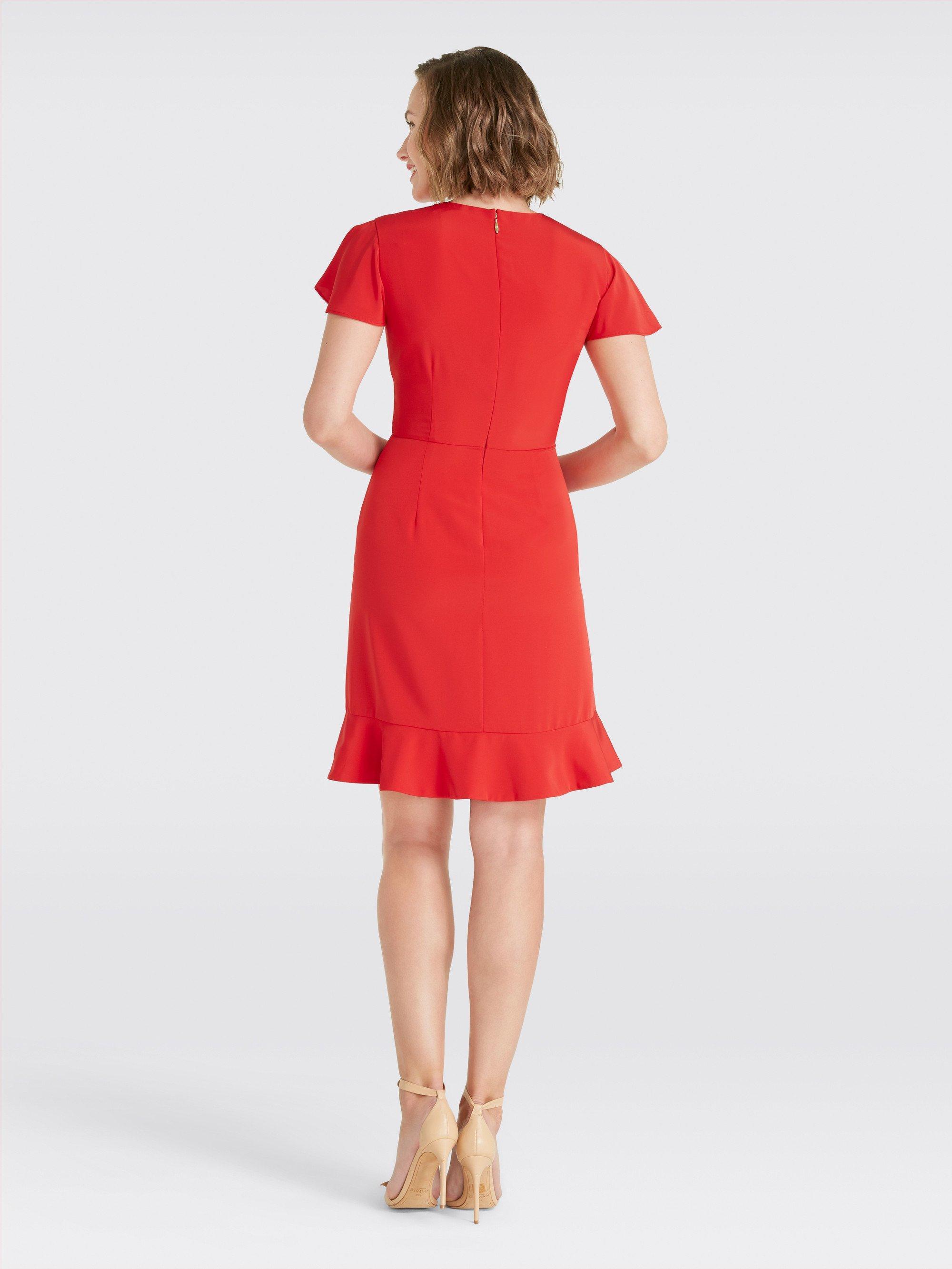adfabefe011 Draper James - Red Solid Flutter Dress - Lyst. View fullscreen