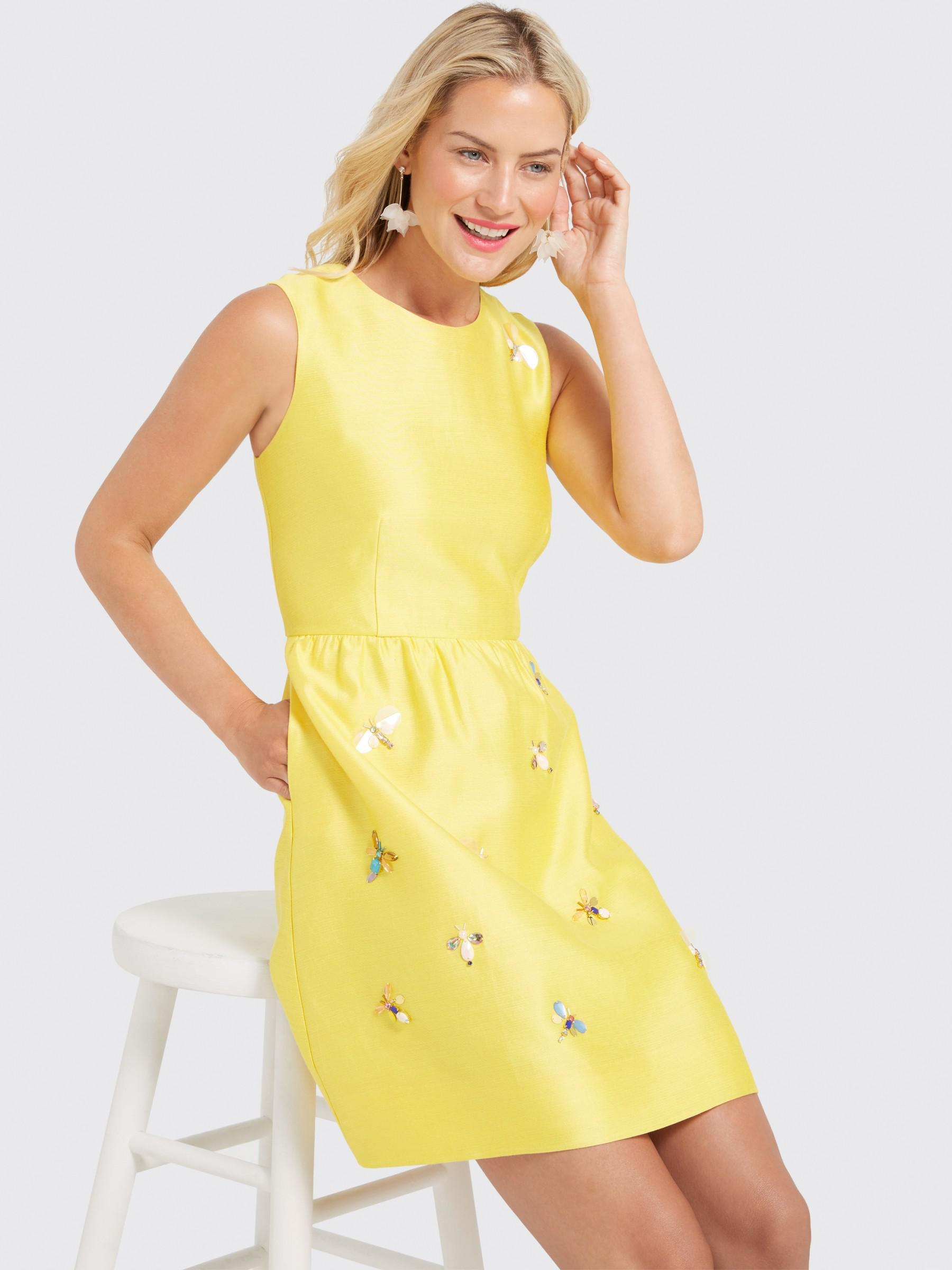 eb4cf50f3aa06 Draper James Embellished Bug Collection Dress in Yellow - Lyst