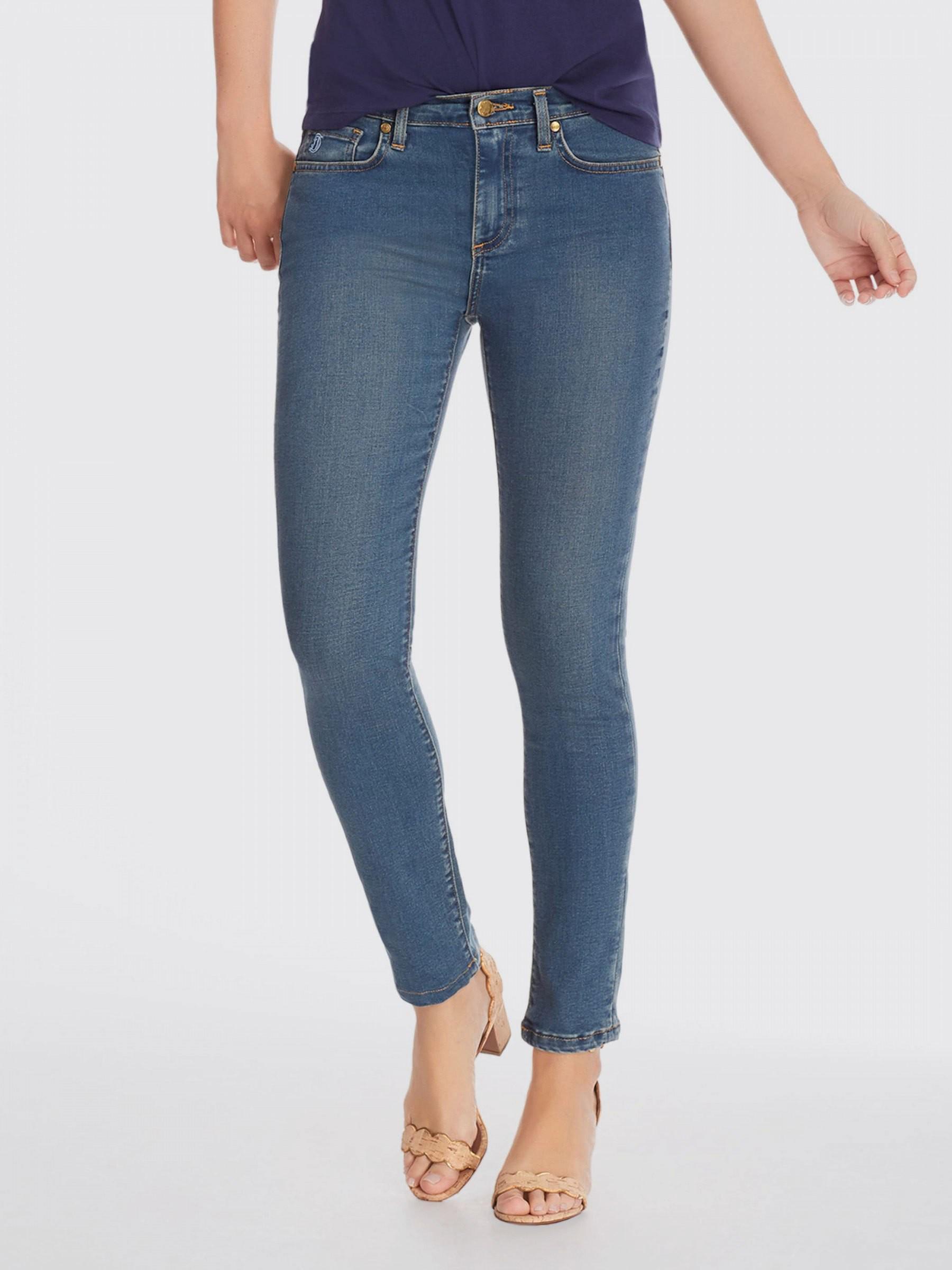68705cbd18ba3 Lyst - Draper James Mid Rise Skinny Jean in Blue