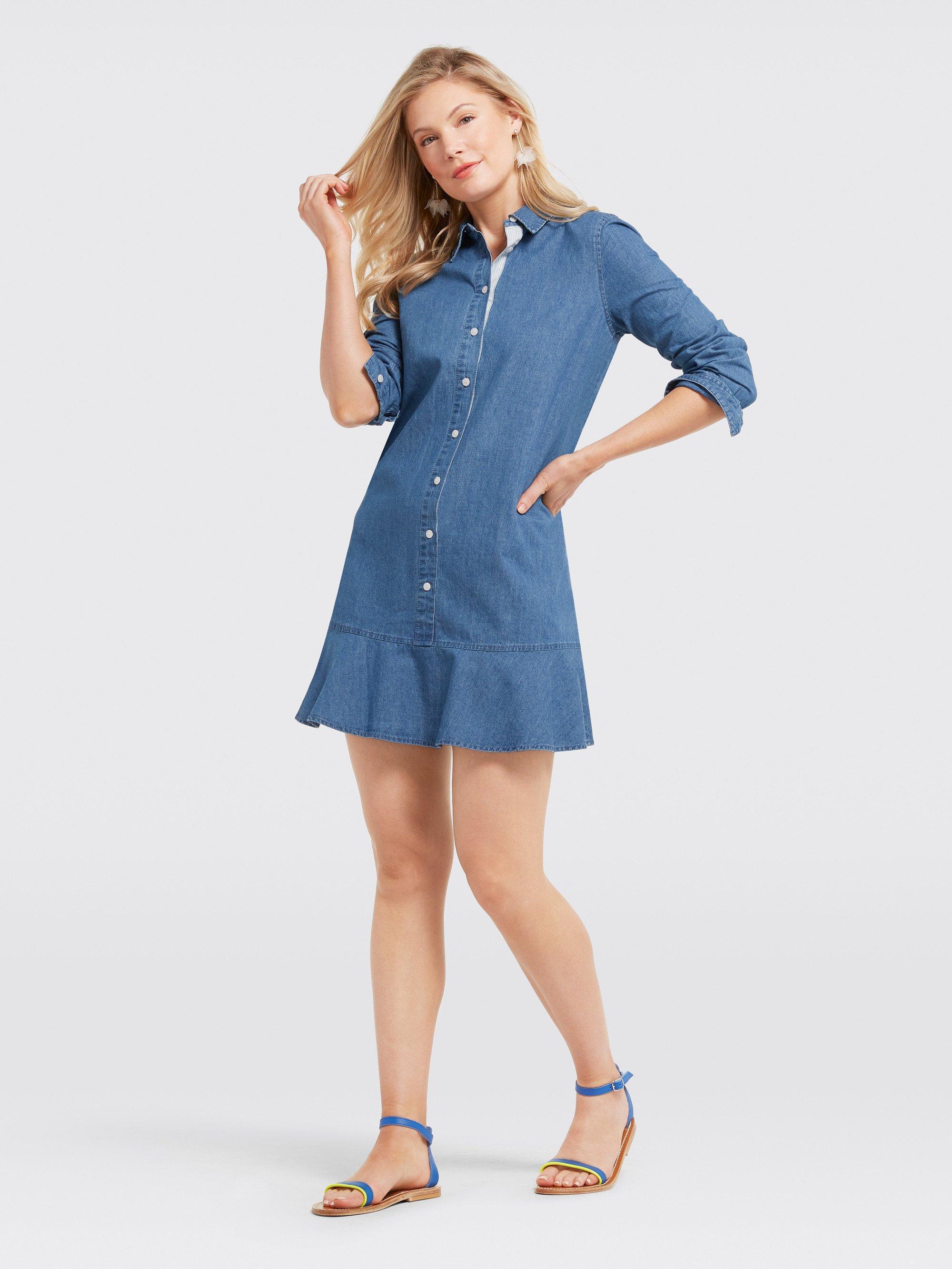 ece2ca5e Draper James Chambray Tulip Shirtdress in Blue - Save 15% - Lyst