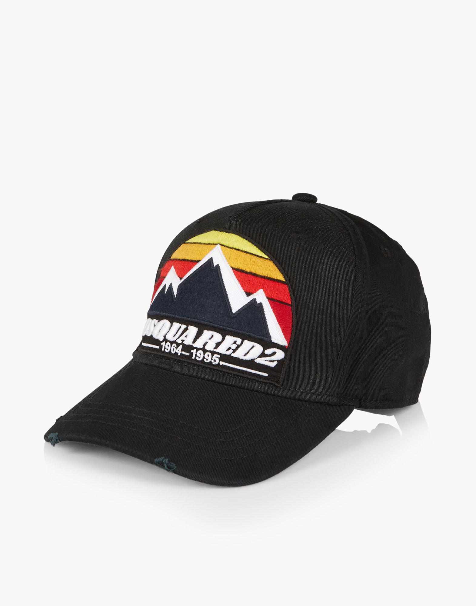 c8c74b46993 DSquared² D2 Mountain Baseball Cap in Black for Men - Lyst