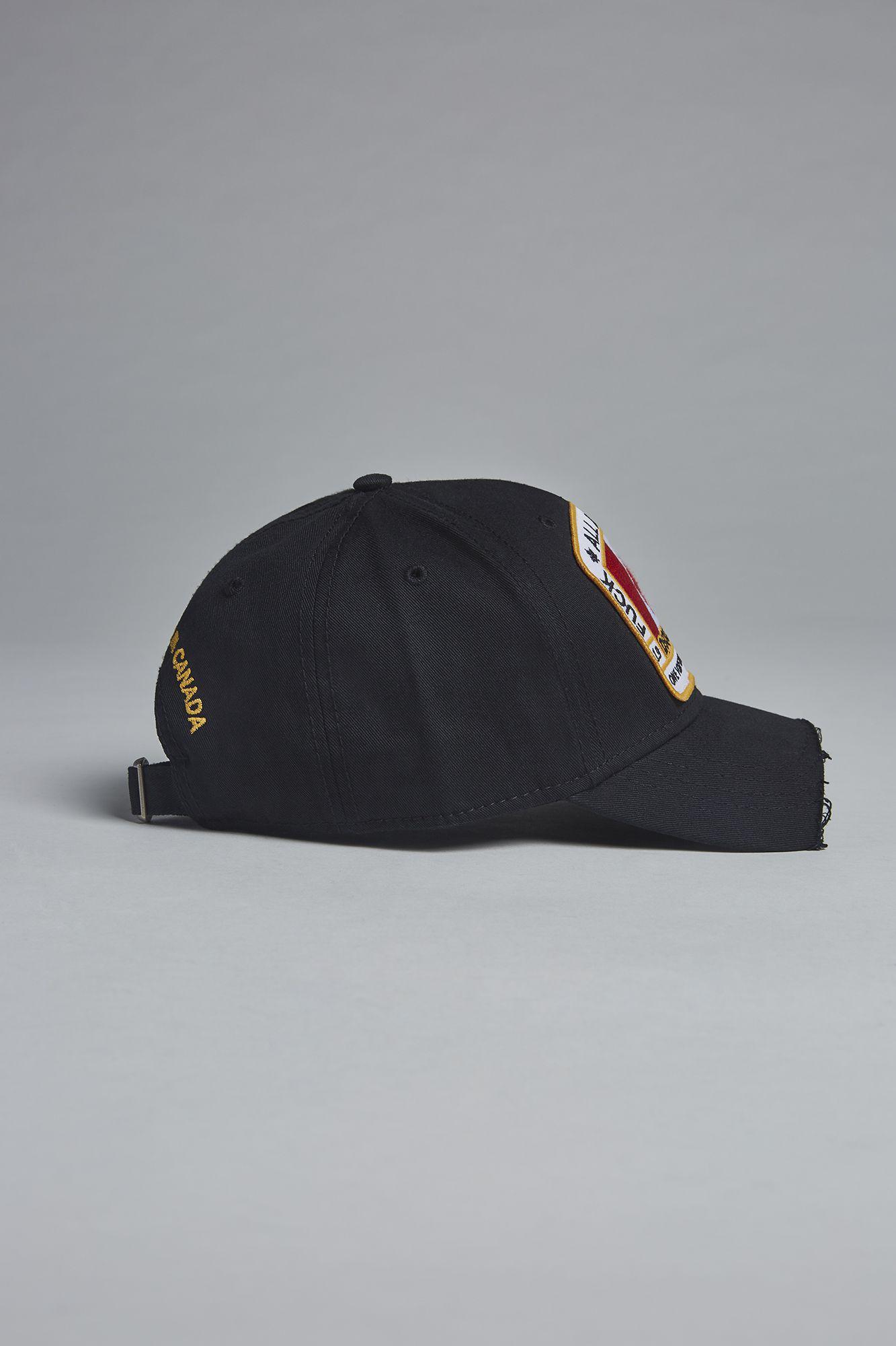 29c375bf2 DSquared² Canadian Heritage Piercing Baseball Cap in Black for Men ...