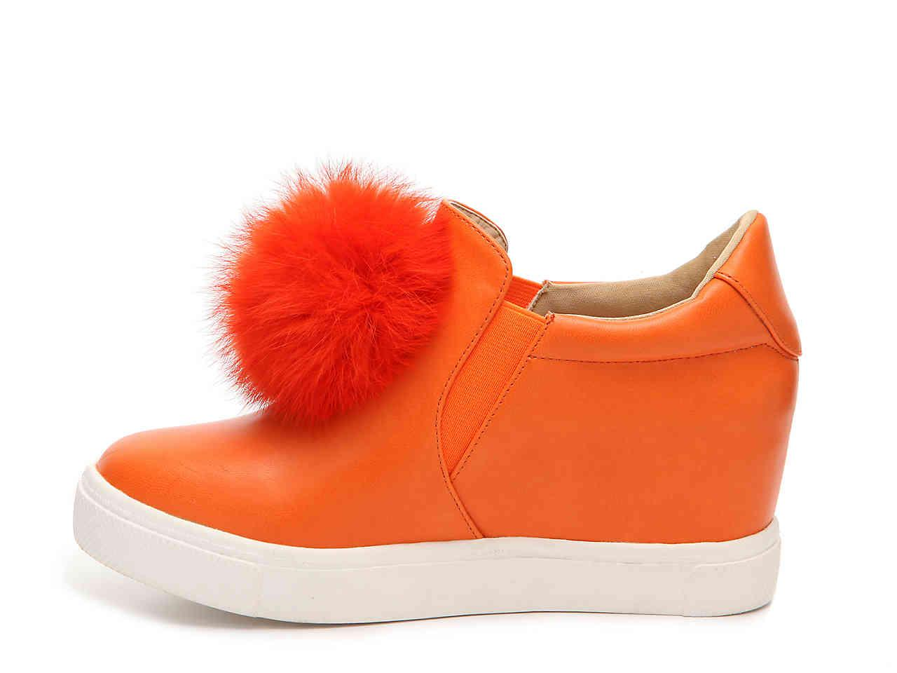 Penny Loves Kenny Kick Pom Pom Slip-On Wedge Sneaker(Women's) -Black Microsuede Cheap Price Outlet Sale Factory Outlet Particular Outlet For Nice lKLXSdA