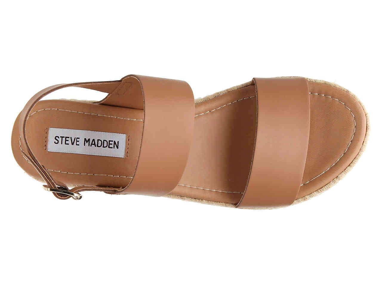 1f8e90eb9d Steve Madden Catia Espadrille Wedge Sandal in Natural - Lyst