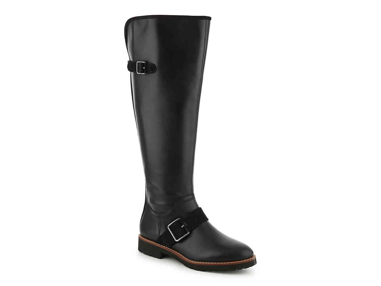 4c63a308bb2 Lyst - Franco Sarto Cutler Wide Calf Riding Boot in Black