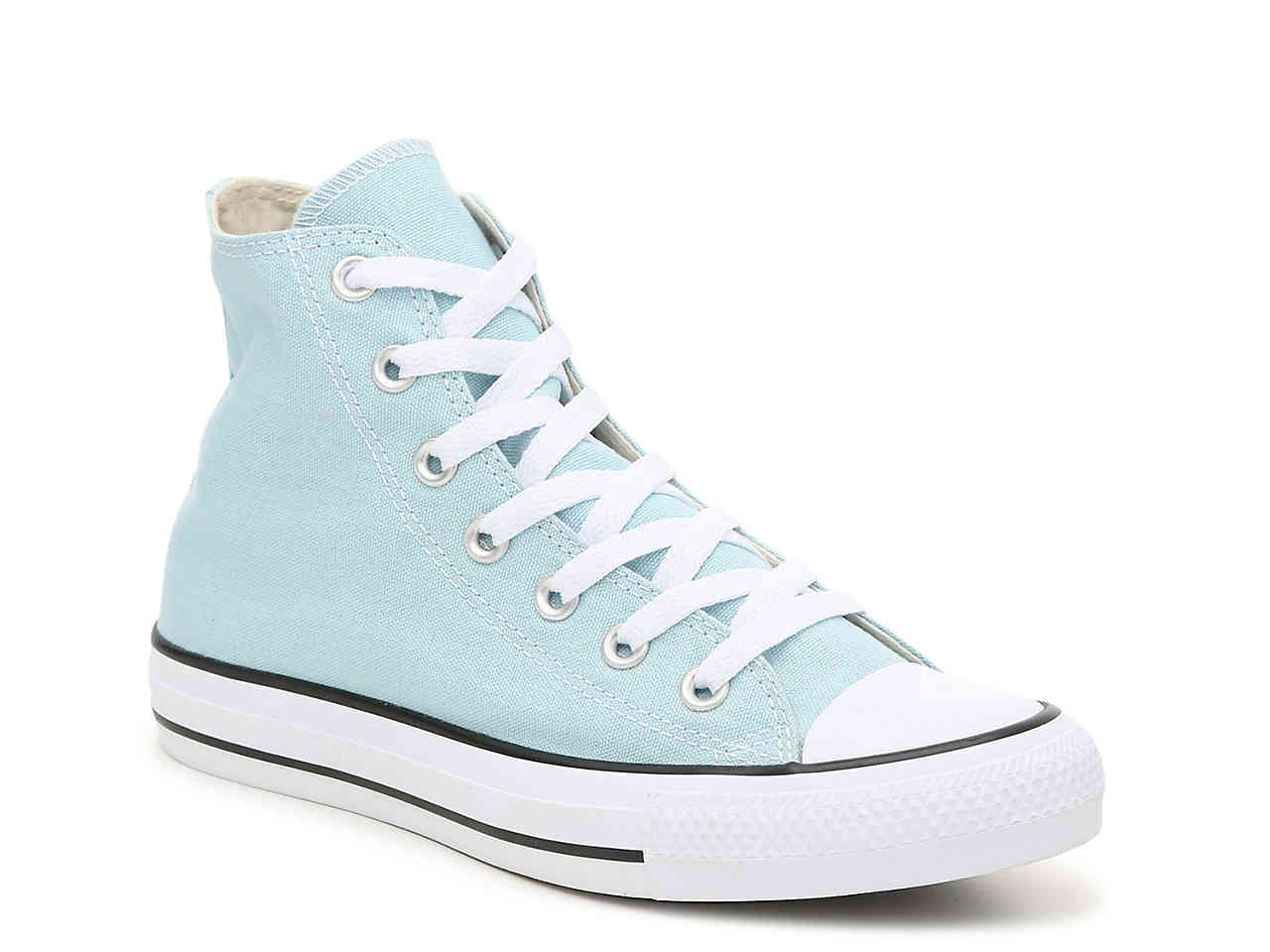 Lyst - Converse Chuck Taylor All Star Hi High-top Sneaker in Blue 7ad021848