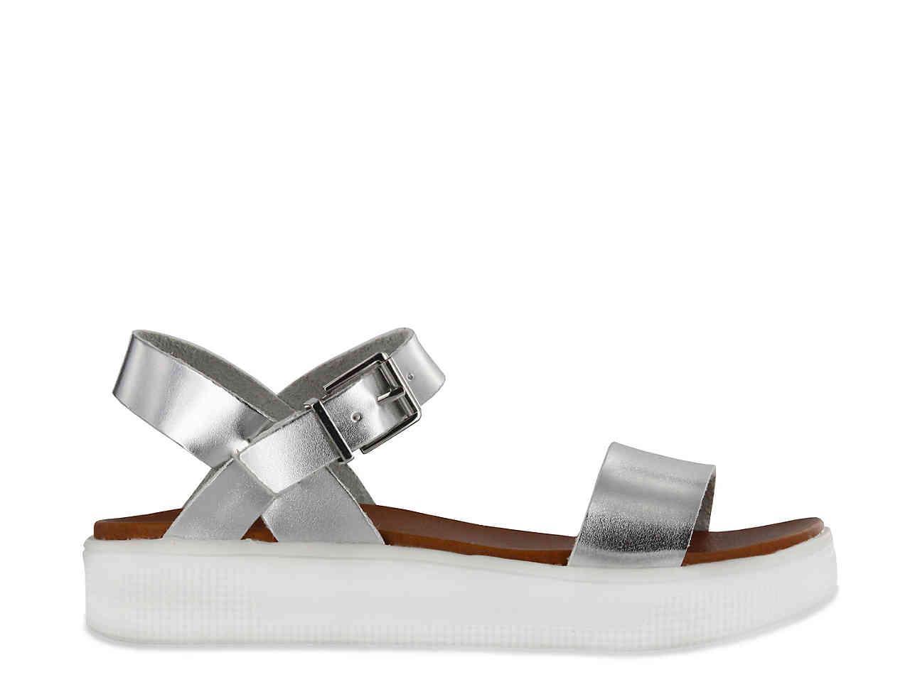 51f87ab4435 Lyst - MIA Abby Platform Sandal in Metallic