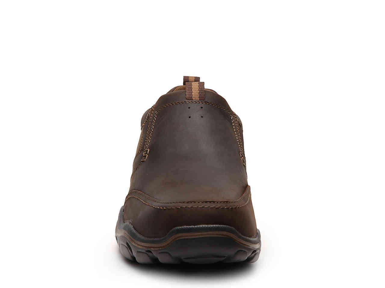 1b870cb5062 Skechers - Brown Relaxed Fit Devent Slip-on for Men - Lyst. View fullscreen