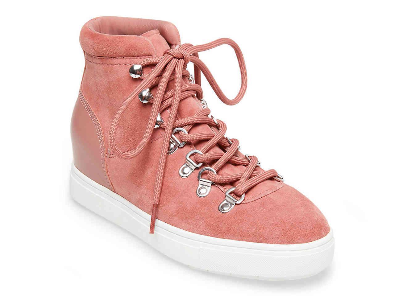 d07221e3d1a Lyst - Steven by Steve Madden Keap Wedge Sneaker in Pink