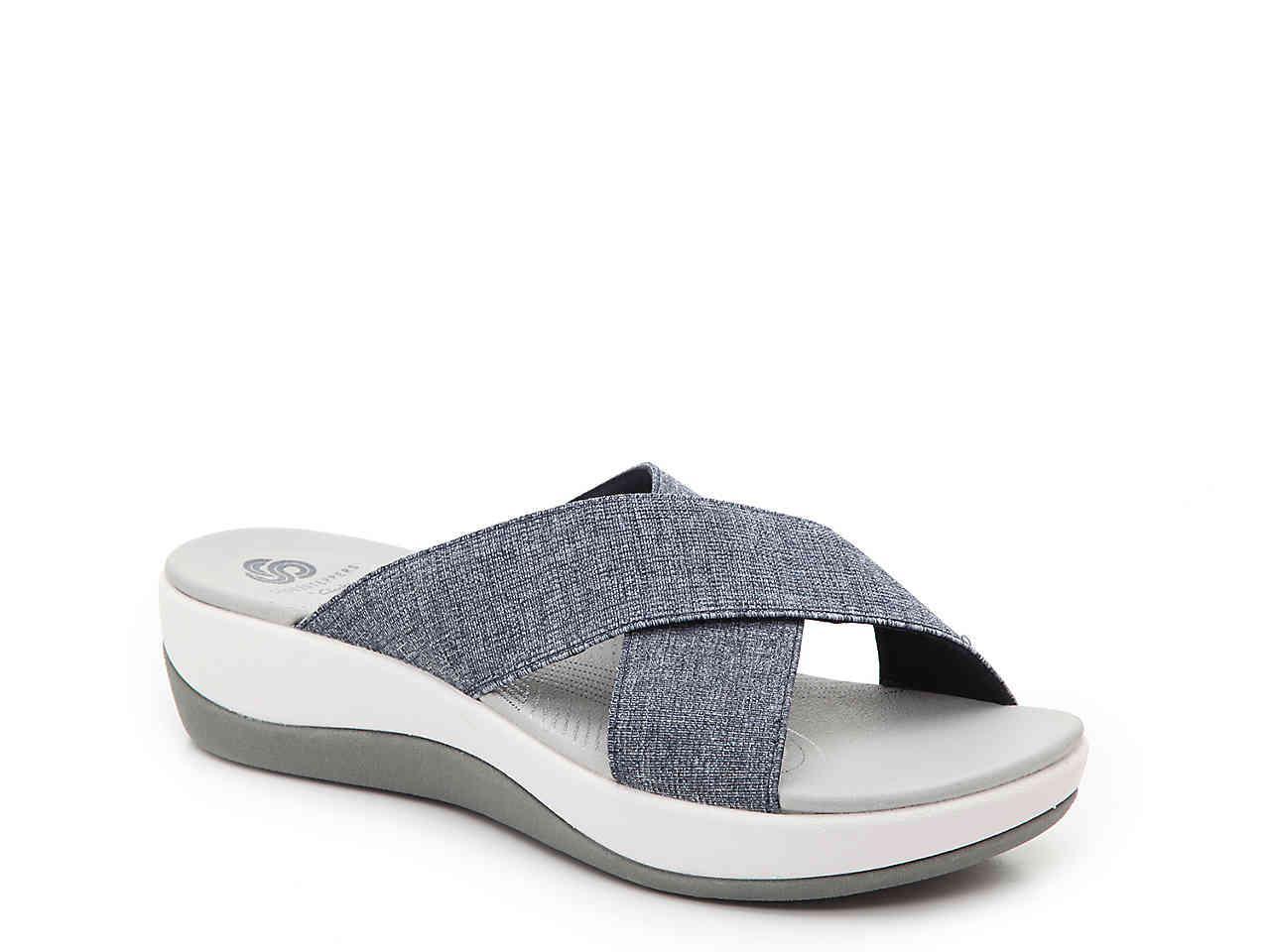 22b066d2e02 Lyst - Clarks Arla Elin Wedge Sandal in Blue