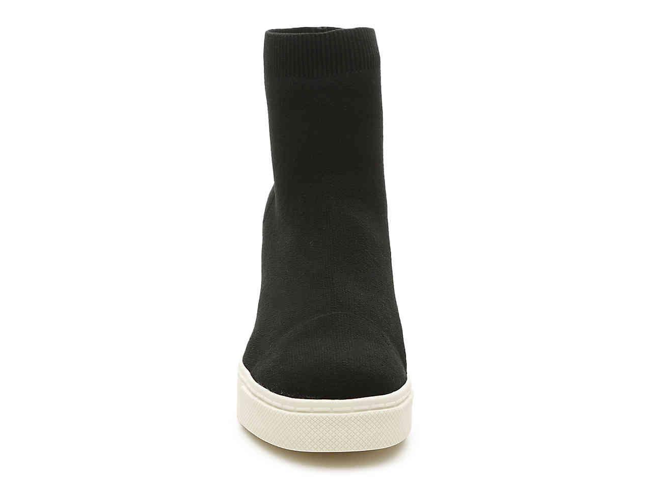 86d804a2527 Lyst - Steve Madden List High-top Wedge Sneaker in Black