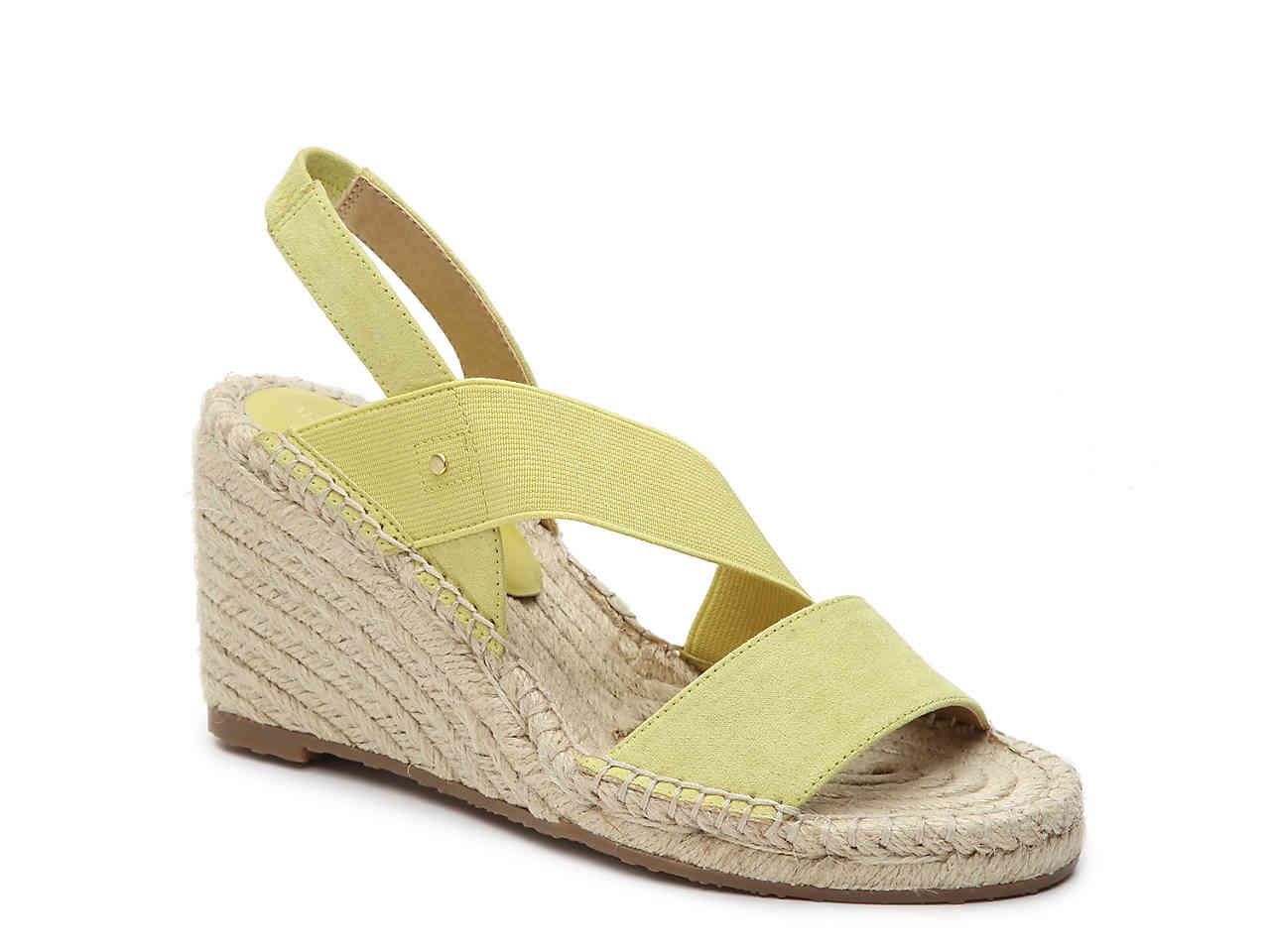 a354706cbaa0 Lyst - Adrienne Vittadini Crete Espadrille Wedge Sandal in Yellow