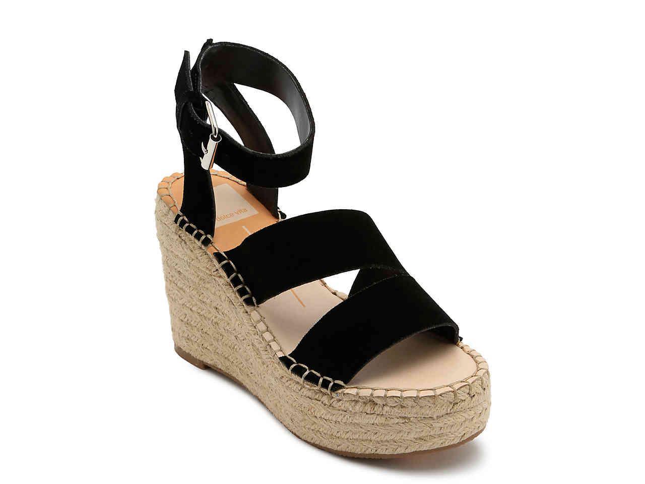 e4cf5b142b5 Dolce Vita - Black Shayla Espadrille Wedge Sandal - Lyst. View fullscreen