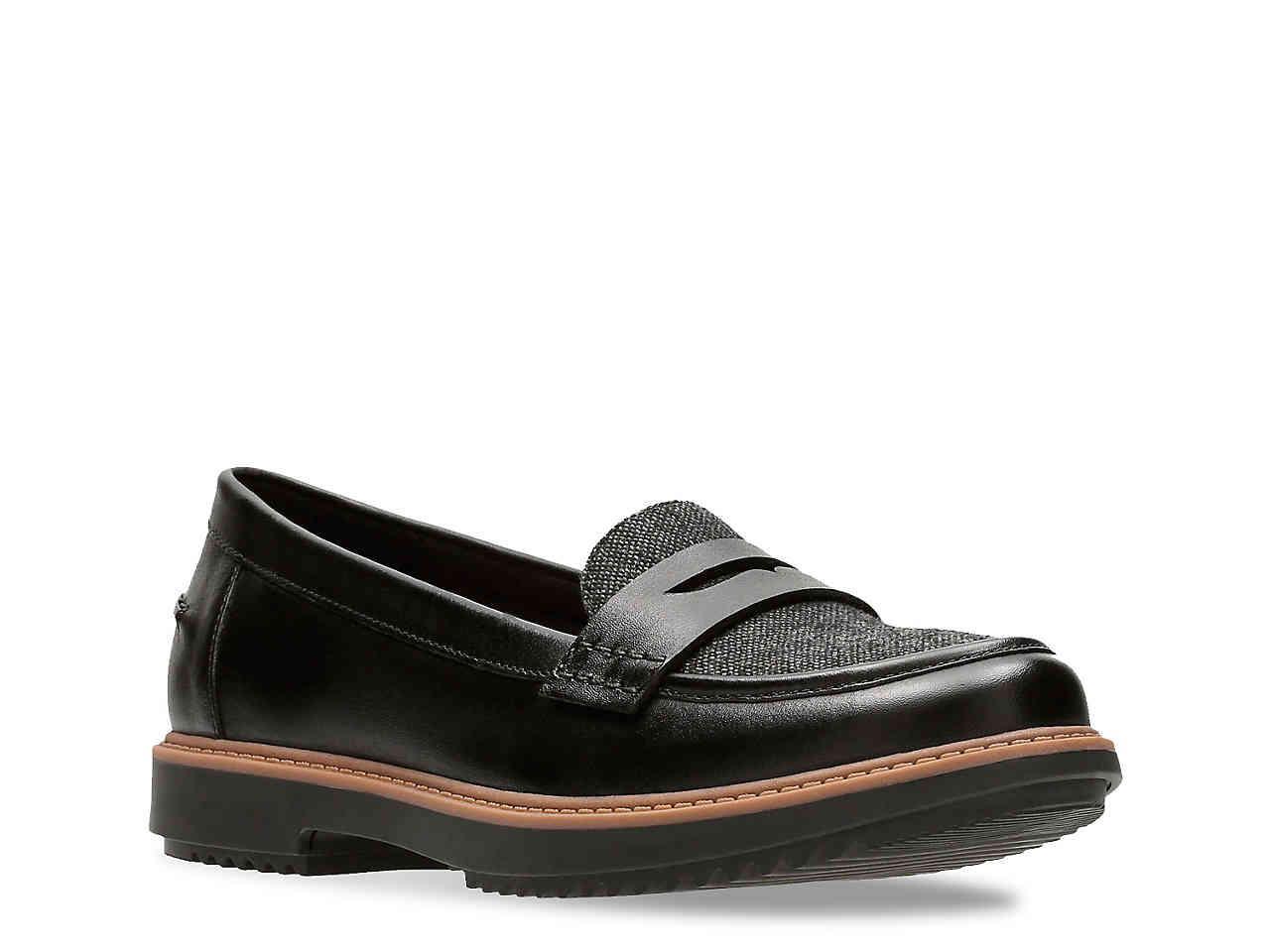 31287a9803d Lyst - Clarks Raise Eletta Loafer in Black