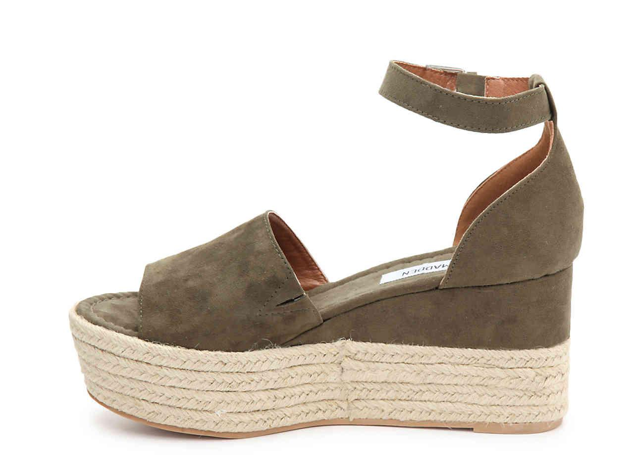 91948178a25 Lyst - Steve Madden Apolo Espadrille Wedge Sandal in Green