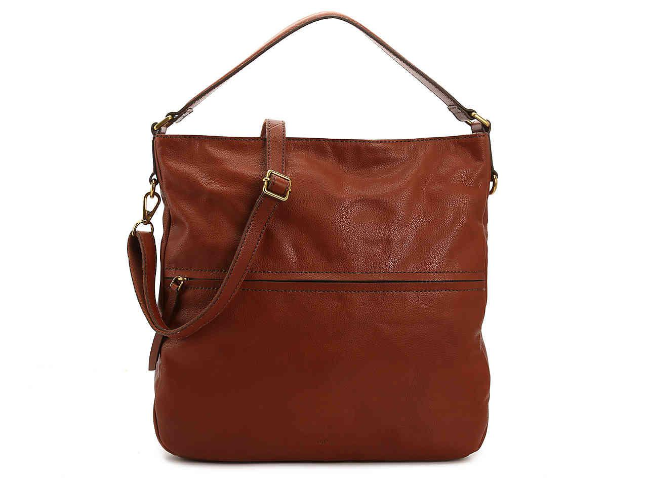 Lyst - Fossil Corey Leather Hobo Bag in Brown c192c656e0
