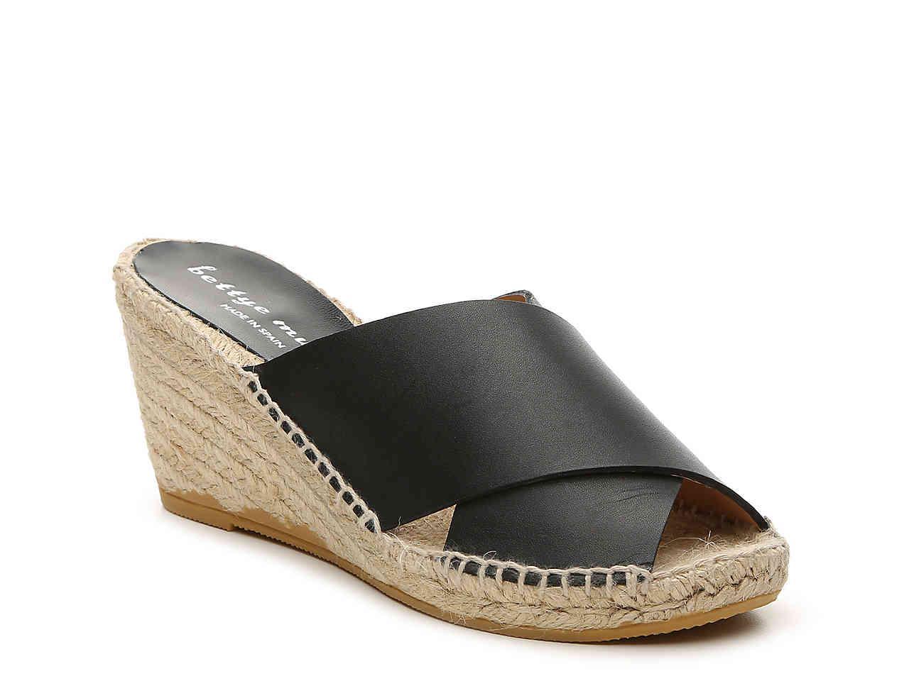 0a903e0bdd5 Lyst - Bettye By Bettye Muller Dijon Wedge Sandal in Black