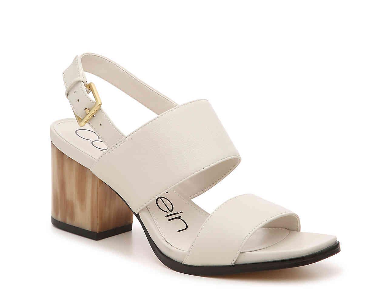 5e6c24d88f Calvin Klein Rosemary Crevo Sandal in White - Lyst