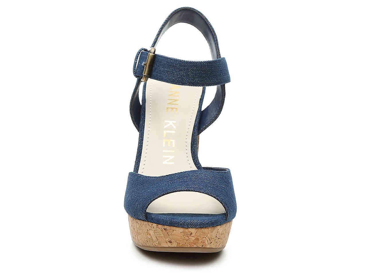59285e56e59 Anne Klein - Blue Lyza Platform Sandal - Lyst. View fullscreen