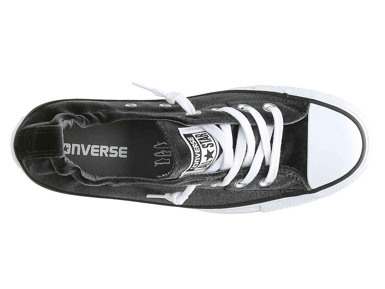 baf5df531d1530 Lyst - Converse Chuck Taylor All Star Shoreline Velvet Slip-on ...