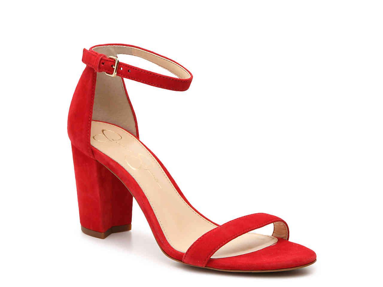 250024bb1b Lyst - Jessica Simpson Monrae Sandal in Red