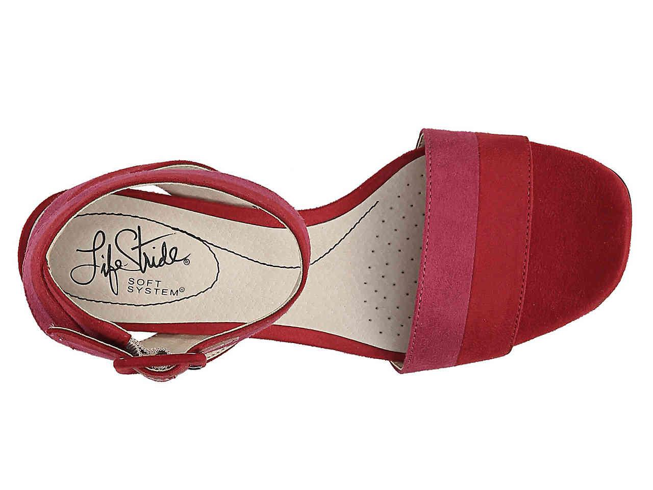 f57cf747b5c Lyst - LifeStride Carnival Sandal in Red