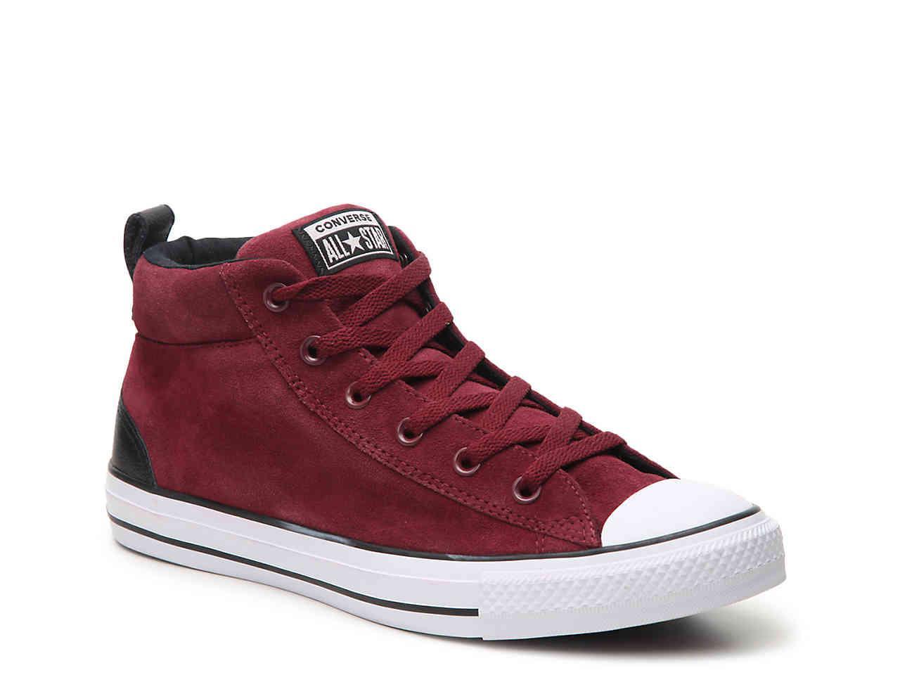 be7a3bd0b025 Converse - Red Chuck Taylor All Star Street High-top Sneaker for Men - Lyst.  View fullscreen