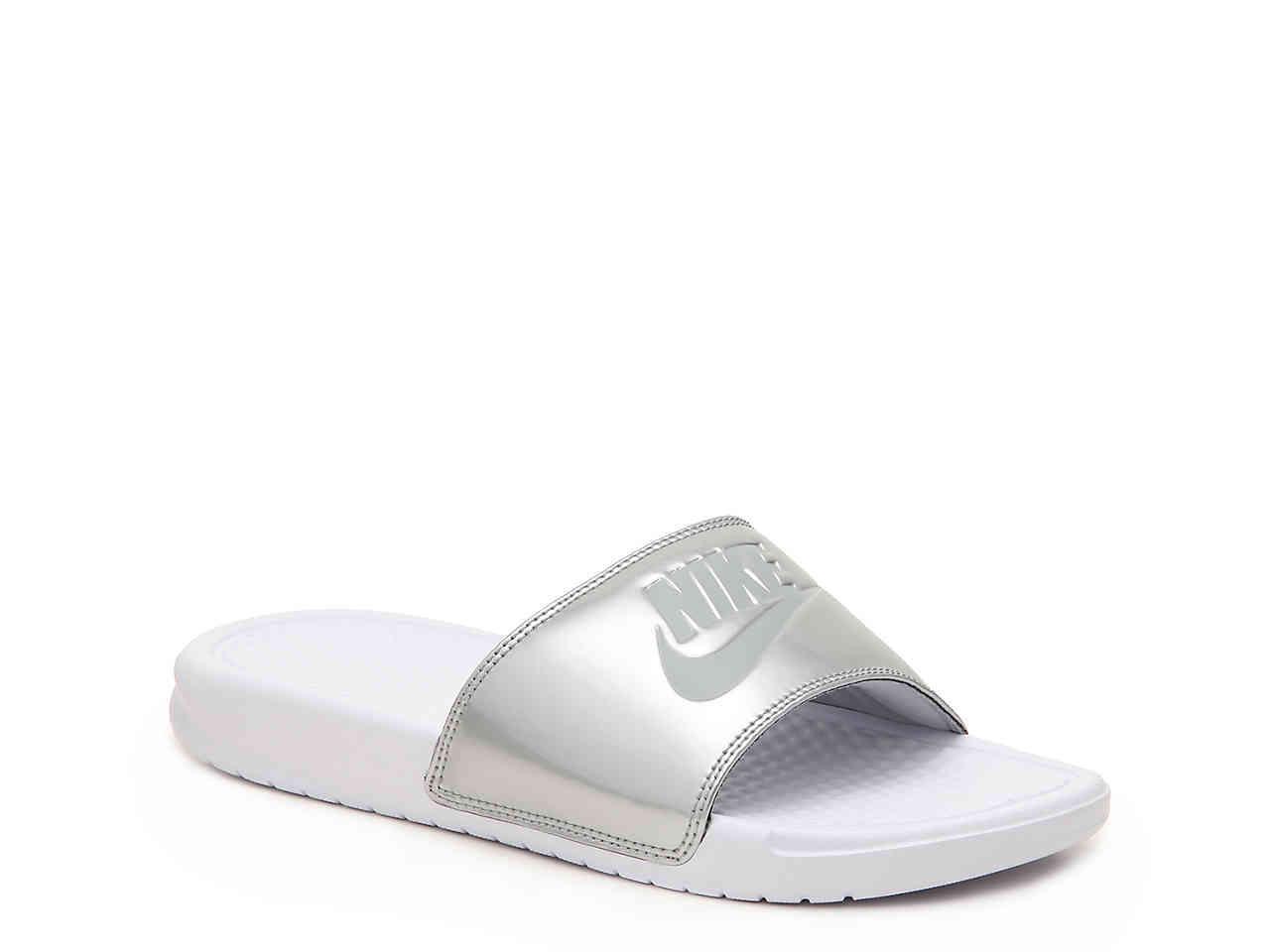 a683c49d8cfd Lyst - Nike Benassi Women s Slide Sandal in Metallic - Save 3%