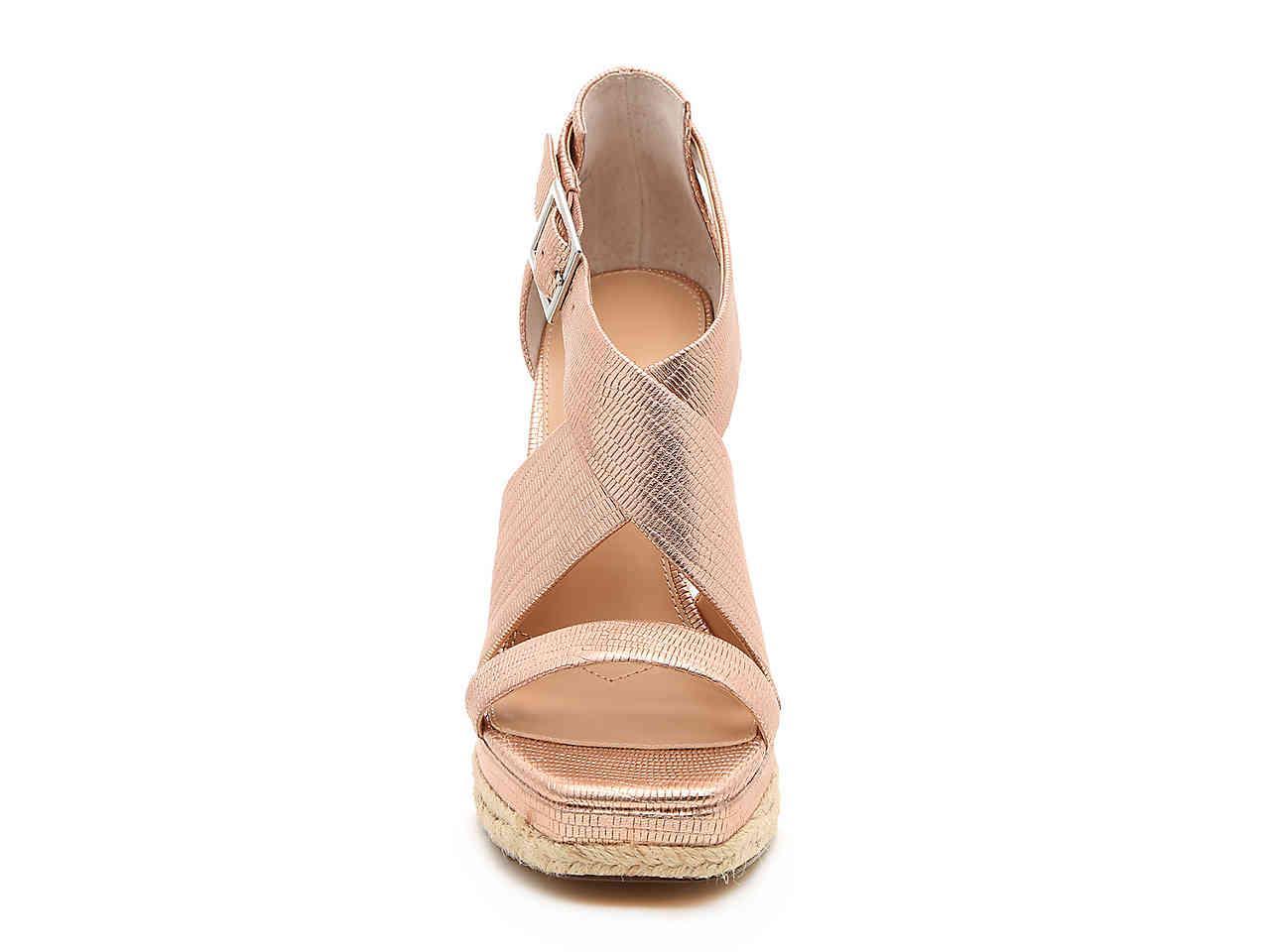 1e266c61652 Charles David Esper Espadrille Wedge Sandal in Metallic - Lyst